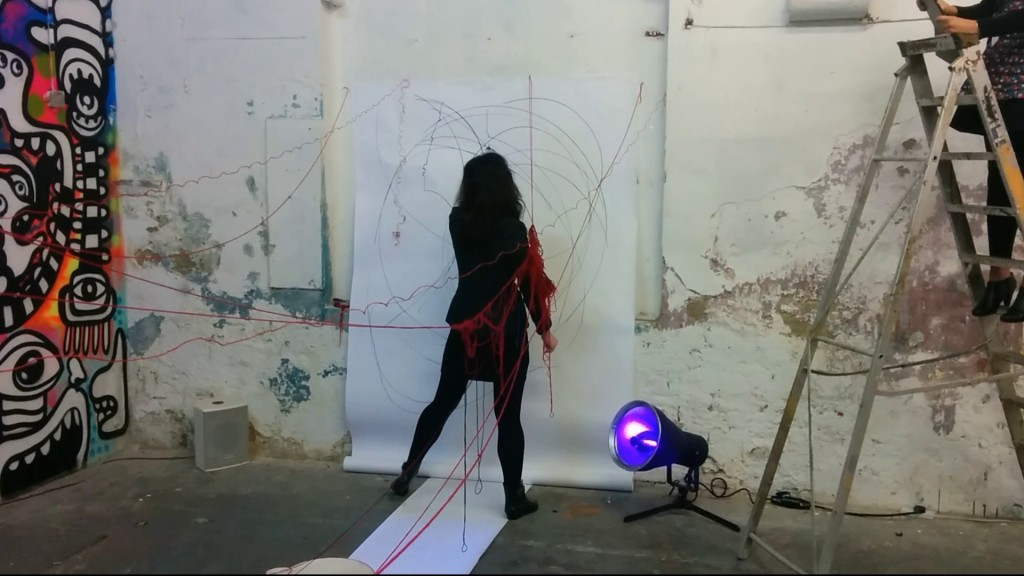 live art Performance, Ariadne saw- re-enacted #2015